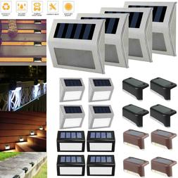 1-12Pack Solar Power LED Deck Lights Outdoor Path Garden Sta