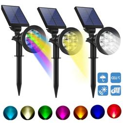 1/2/4Pack LED Landscape Solar Lights Waterproof Wall Light G