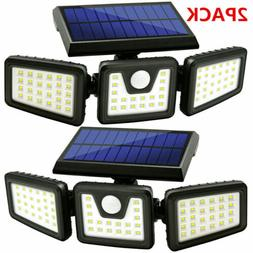 1/2PACK Solar Lights Motion Sensor, Security 74 LED Waterpro