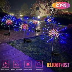 1/2pcs Solar Firework Starburst Fairy Lights Stake Outdoor G