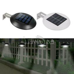 1~2X 9 LED Solar Wall Way Light Gutter Lamp Garden Yard Fenc