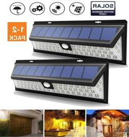 1-2X Solar Lights Outdoor 54 LED, Super Bright Solar Powered