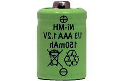 8 X 1/3 Aaa 150 Mah Nimh Batteries - Button Top