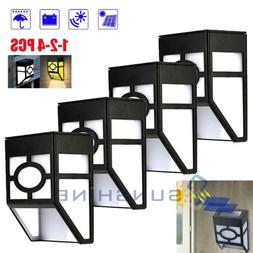 1-4pc Solar Power LED Light Path Way Wall Landscape Mount Ga