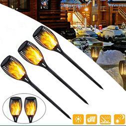 1-4Pcs 33/ 96LED Waterproof Solar Tiki Torch Light Dancing F