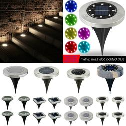 1 4x 8led solar power buried light