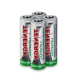 1 Card: 4pcs Tenergy Solar Tech AA 3.2v  400mah Lifepo4 Rech