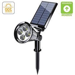 Hoont 2-in-1 Bright Outdoor LED Solar Spotlight / Solar Powe