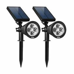 AMIR Solar Spotlights Outdoor Upgraded, Waterproof 4 LED Sol