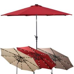 10 ft Outdoor Patio Solar LED Lights Umbrella Fairy Parasol