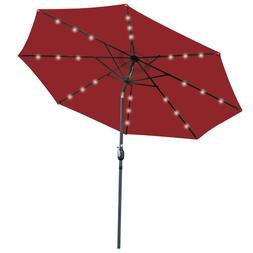 10 hanging solar led lighted umbrella sun