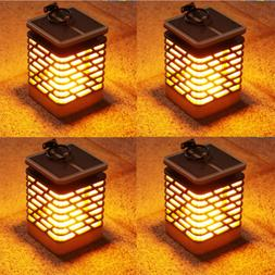10 Pack LED Waterproof Flickering Flame Solar Torch Light Ga
