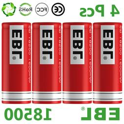 4pc 18500 3.7v RECHARGEABLE BATTERY Batteries for solar ligh