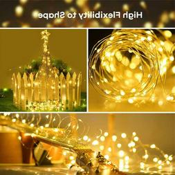 100/200 LED Solar Power Fairy Copper Wire String Lamp Outdoo