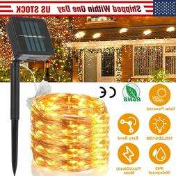 100/200 LED Solar Power String Fairy Lights Garden Outdoor P