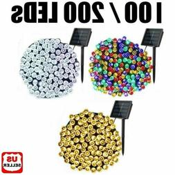 100/200 LED Solar String Fairy Lights 8 Mode Waterproof Outd