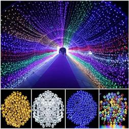 100/200LEDS Solar Fairy Lights LED String Patio Waterproof O