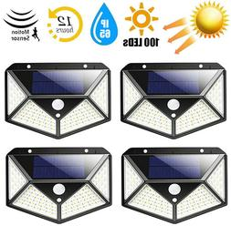 100 LED Outdoor Solar Power Motion Sensor Wall Light Waterpr