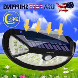 100 LED Solar Lights Garden Wall Lamp PIR Motion Sensor Wate