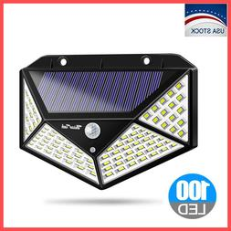 100 LED Solar Lights Outdoor PIR Motion Sensor Wall Yard Gar