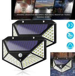 100 LED Solar Outdoor Motion PIR Sensor Lights Garden Pathwa