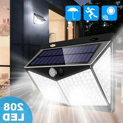 208 LED Solar Power Light PIR Motion Sensor Security Outdoor
