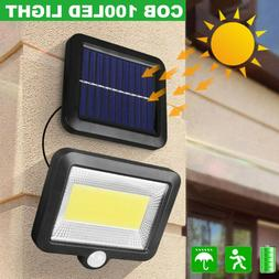 100 LED Solar Power Motion Sensor Light Security Flood Outdo