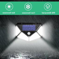 100 LED Solar Power PIR Motion Sensor Wall Light Outdoor Gar