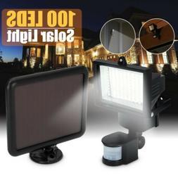 100 LED Solar Power Security Flood Lights PIR Motion Sensor