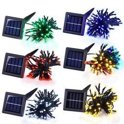 100 LED Solar Power String Fairy Light Outdoor Garden Christ