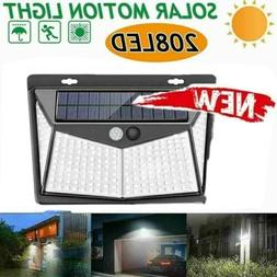 100 LED Solar Powered Light Outdoor Motion Sensor Wall Yard