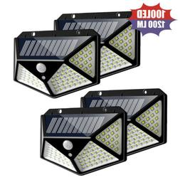 100 LED Solar Powered Light Outdoor Motion Sensor Wall Yard