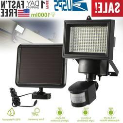 100 LED Solar Powered PIR Motion Sensor Light Garden Outdoor
