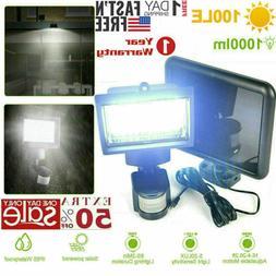 100 leds outdoor solar light motion sensor