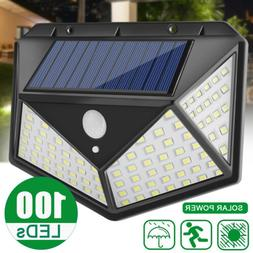100 LED Solar Wall Light Motion Sensor Outdoor Waterproof Ga