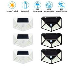 100 LED Waterproof Solar Power PIR Motion Sensor Wall Light