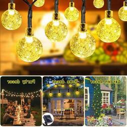 100 LEDS Crystal ball 10M Solar Powered Fairy LED String Lig