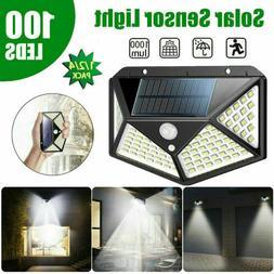 100 LEDs Waterproof Solar Power PIR Motion Sensor Wall Light