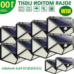 100LED Solar Lights Motion Sensor Security Deck RV Yard Fenc