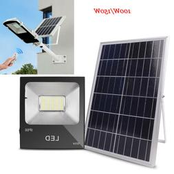 100W 150W Solar Powered Sensor Flood Waterproof Outdoor Secu