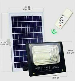 100W Solar Powered Street Flood Lights Outdoor Remote Contro