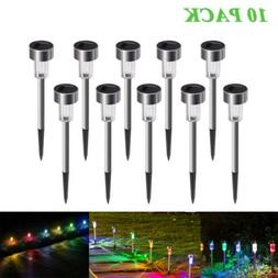 10Pc LED Solar Lights Outdoor Garden Light Landscape Pathway
