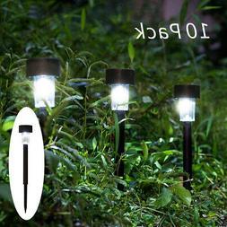 10PCS Solar Power Outdoor Path Light Spot Lamp Yard Garden L