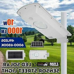 10W Led  PIR Motion Sensor Solar Street Light 49pcs Led Bead