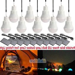 10x Portable Solar Power LED Bulb Lamp Outdoor Camp Tent Fis