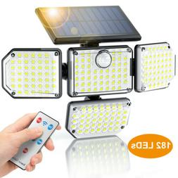 112 LED Solar Power PIR Motion Sensor Light Outdoor Security