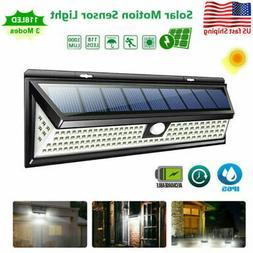 118 LED Solar Lamp Outdoor Garden Yard PIR Motion Sensor Wal