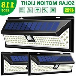 Litom 206LED Solar Power Light PIR Motion Sensor Garden Yard
