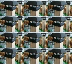 12 Kits Black New Outdoor Garden Solar Panel Post Deck Cap L