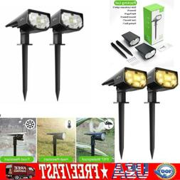 LITOM 12 LED Solar Landscape Spotlights IP67 Outdoor Lights